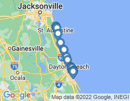 map of fishing charters in Palm Coast