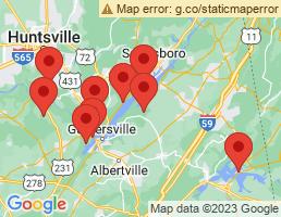 map of fishing charters in Scottsboro
