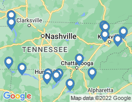 map of fishing charters in Tennessee River