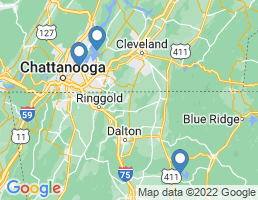 map of fishing charters in Ooltewah