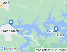 map of fishing charters in Rogers