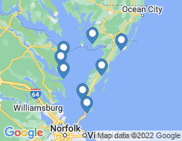 map of fishing charters in Melfa