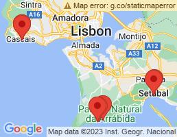 map of fishing charters in Setúbal Municipality