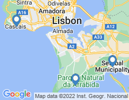 map of fishing charters in Lisboa
