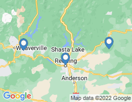 map of fishing charters in Shasta Lake