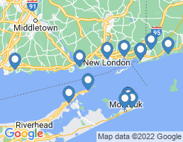 map of fishing charters in Old Saybrook