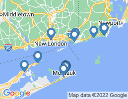 map of fishing charters in Groton
