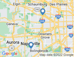 map of fishing charters in Naperville