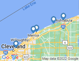 map of fishing charters in Mentor