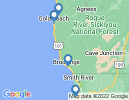 map of fishing charters in Brookings