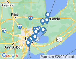 map of fishing charters in Charter Township Of Clinton
