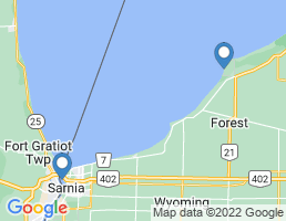 map of fishing charters in Point Edward