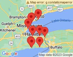 map of fishing charters in Niagara-on-the-Lake