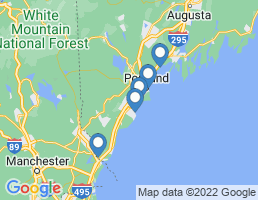 map of fishing charters in Saco