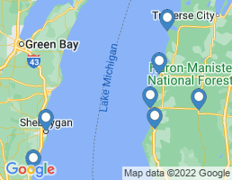 map of fishing charters in Manistee River
