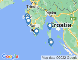 map of fishing charters in Medulin