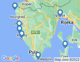 map of fishing charters in Rovinj