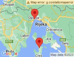 map of fishing charters in Omišalj