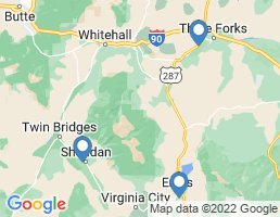 map of fishing charters in Sheridan