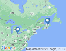 map of fishing charters in North Lake