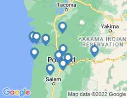 map of fishing charters in Columbia River