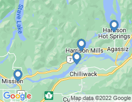 map of fishing charters in Chilliwack
