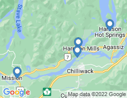 map of fishing charters in Harrison Mills