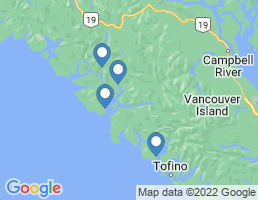 map of fishing charters in Nootka Sound