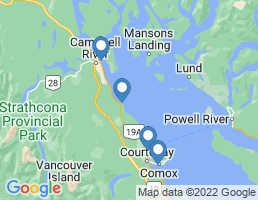 map of fishing charters in Campbell River