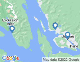 map of fishing charters in Excursion Inlet
