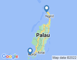 map of fishing charters in Koror