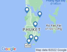 map of fishing charters in Tambon Chalong