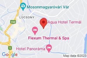 Térkép Hotel Termál Aqua*** Mosonmagyaróvár