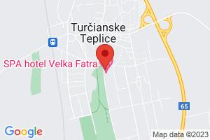 Mapa Hotel Royal Palace***** Turčianske Teplice