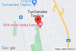 Mapa Lázeňský hotel Veľká Fatra*** Turčianske Teplice