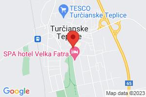 Mapa Léčebný dům Aqua** Turčianske Teplice