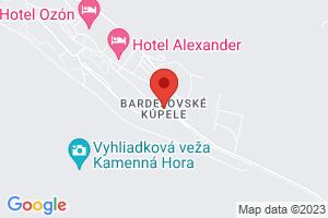 Mapa Hotel Alexander**** Bardejov