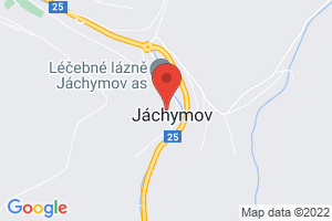 Mapa Hotel Radium Palace**** Jáchymov