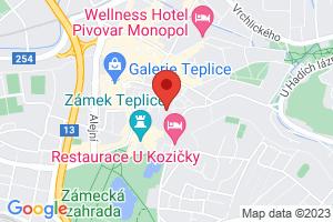 Mapa Léčebný dům Beethoven*** Teplice