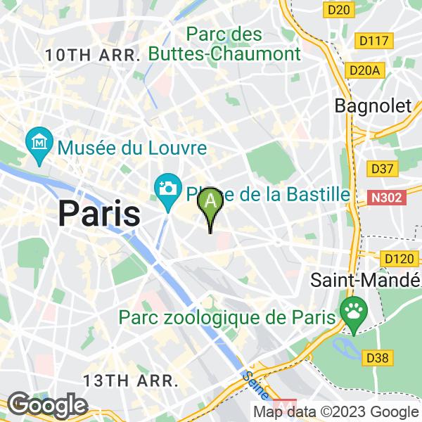 Mercure Paris Bastille Saint Antoine Paris - Map of paris bastille