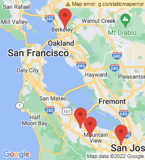 Los Altos Breakout Mentors map