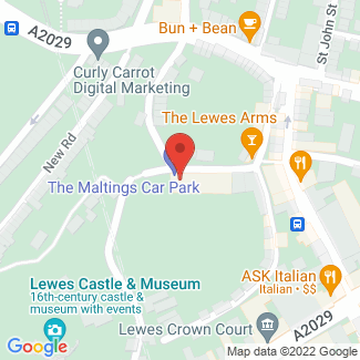 Google Map with search results marked