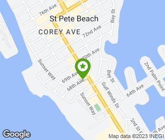 Saint Pete Beach Map