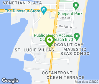 on cocoa beach hotels map