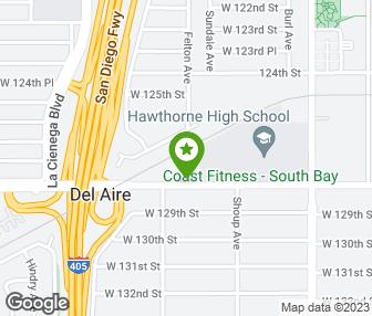 Hawthorne California Map.Coast Fitness Hawthorne Ca Groupon