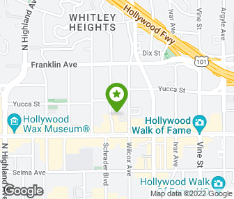 Hotel In Los Angeles Map