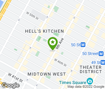Hells Kitchen New York Map.Hell S Kitchen New York Ny Groupon