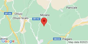 The Sabatino Tartufi farm on the map.