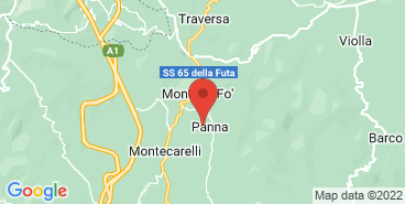 The Acqua Panna farm on the map.