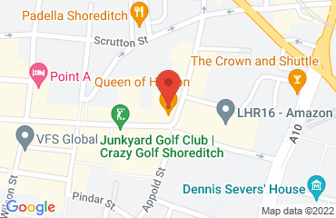 Queen of Hoxton, 1-5 Curtain Rd, Shoreditch, London EC2A 3JX, United Kingdom